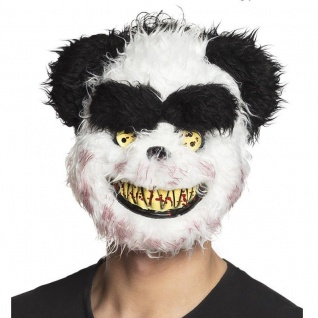 gruselige CREEPY PANDA Maske blutrünstige Tiermaske Halloween Kostüm #4412