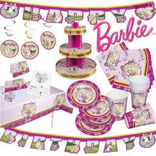BARBIE - Alles zum Kindergeburtstag -Geburtstag Kinder Mädchen Party Deko Pferde