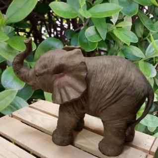 Garten Figur Elefant Elefanten Baby 32 cm Haus & Garten 11140 Deko lebensecht