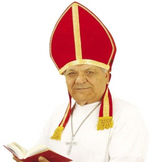 MITRA - Bischof Hut Fasching Bischofshut -Kopfbedeckung Kirche Geistlicher Papst