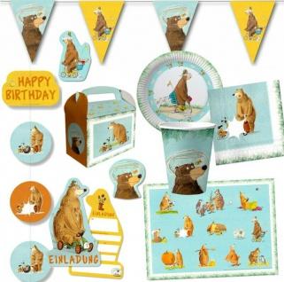 Bärenparty DR. BRUMM Kinder Geburtstag Party Deko Geschirr Bär Tierparty