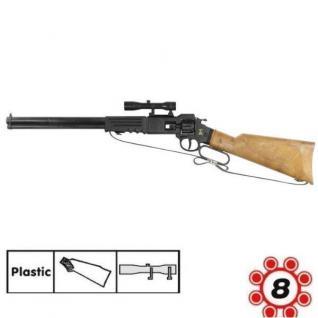 ARIZONA Western Gewehr 8 Schuss Ring Munition Kinder Spielzeug Cowboy Indianer