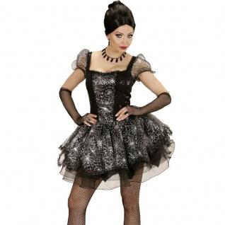 Sexy Spider Lady Spinnen Kleid 42/44 (L) Damen Kostüm Schwarze Witwe 3533
