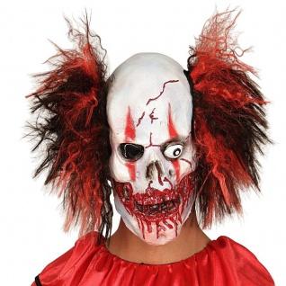 Zombie Totenkopfmaske CLOWN MASKE Horror Clownsmaske Horrorclown Horrormaske