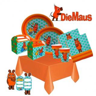 DIE SENDUNG MIT DER MAUS Kinder Geburtstag Party Deko 53 tlg. Set - Teller
