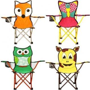 Kinder Klappstuhl KUH EULE BUTTERFLY oder FUCHS Faltstuhl Stuhl Campingstuhl
