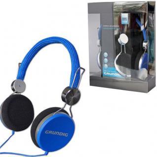 GRUNDIG Original STEREO KOPFHÖRER -blau- Cool Color 105dB TV Heim-Audio MP3
