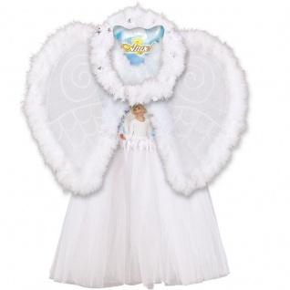 ENGELSET 3er Set für Kinder Kostüm Engel Weihnachten Rock Flügel Heiligenschein