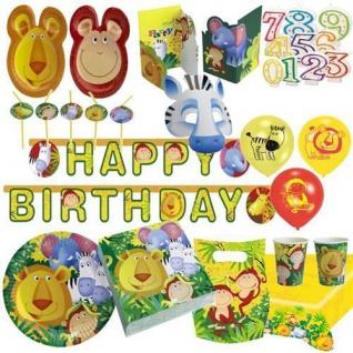 SAFARI Party Set Deko Kindergeburtstag Motto Geburtstag Tiere Jungle Zoo