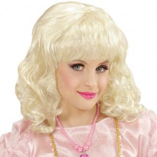 Märchen Prinzessin Kinder Mädchen Perücke blond schulterlang wellig #7496