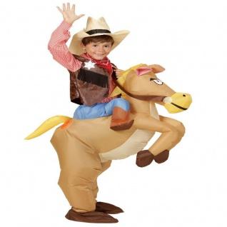 AUFBLASBARES PFERD Reiten COWBOY KINDER Kostüm Party #5501