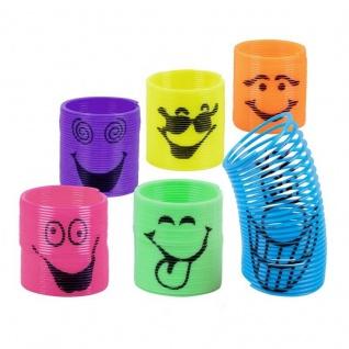 6x lächelnde Spiralen Mitgebsel Kinder Geburtstag Mitbringsel Spielzeug