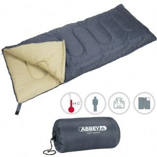 XXL Deckenschlafsack Schlafsack Outdoor Camping Abbey Camp® - Grau/Sand (21NK)