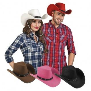 Western Cowboy Hut Cowgirl Hut Kostüm Zubehör - Karneval Fasching Verkleidung