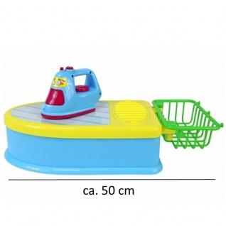 Kinder Bügelbrett und Bügeleisen mit Sound + Wäschekorb Spielzeug Haushalt