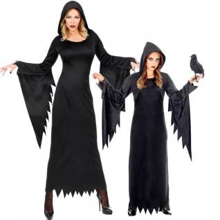 Finstere Hexe Dark Queen dunkle Fee Kostüm für Damen Kinder Mädchen Halloween