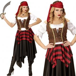 PIRATIN Damen Kostüm Gr. XL 46/48 Abenteuer Pirat Seeräuberin Piratenbraut #0562