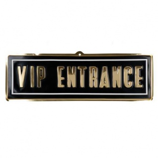 Wand-Deko VIP ENTRANCE 20 x 60 cm aus PVC - Hollywood Film Motto Party Deko
