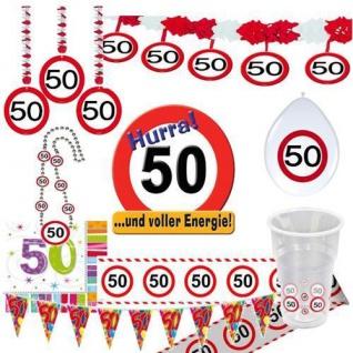 50. Geburtstag Verkehrsschild Party DekorationTischdeko Schild Jubiläum 50