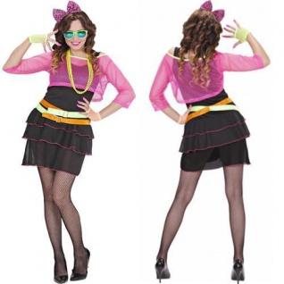 80er Jahre Groupie Girl Damen Kostüm Gr. S 34 36 Karneval Fasching