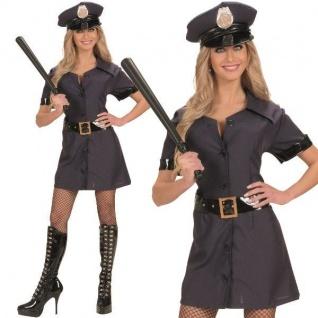 Sexy Polizei Police Girl Damen Kostüm Polizistin Karneval Fasching Verkleidung