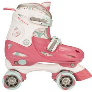 Kinder ROLLSCHUHE Größen verstellbar 27 28 29 30 pink Junior Skates (52QN)