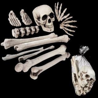 12-tlg. Deko Knochen Skelett Totenkopf Halloween Deko Party Grusel Horror #2157