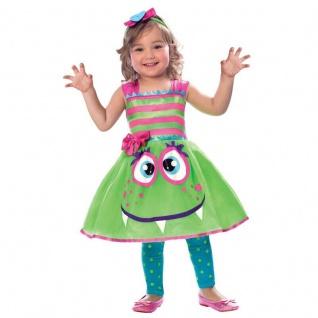 Monster Mädchen Kinder Kostüm Kleinkinder Gr. 98 104 Rock + Haarband Halloween