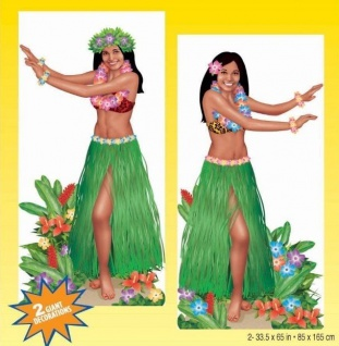 """Hawaii Beach Party """" Hula Girl"""" Wandhintergrund Poster Strand Sommer Poolparty"""