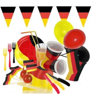 DEUTSCHLAND Motto Party - Alles zur WM / EM Becher Teller Zubehör usw