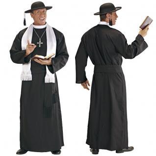 Priester Pfarrer Pastor Gewand in TOP QUALITÄT Herren Kostüm in Gr. 48 50 52 54