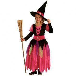 Kinder Kostüm Hexe Pretty Witch Gr. 128 f 7-9 Jahre Hexenkostüm Halloween #8064