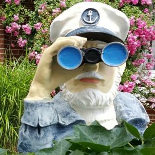 Spanner Kapitän mit Fernglas Deko Figur Seemann Opa Garten Deko #1395