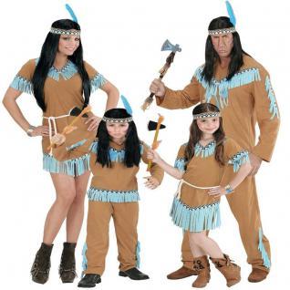 INDIANER FAMILIE Indianerin Damen Herren Mädchen Junge Kostüm Sioux Apache camel
