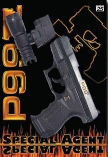 Special Agent P99 mit Licht Zielvorrichtung Kinder Knall Pistole Spielzeug