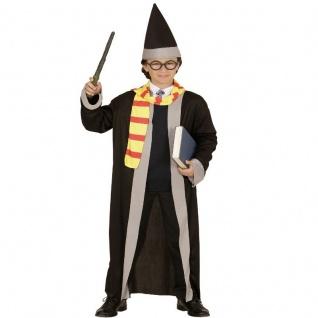 Zauberer ZAUBERLEHRLING mit ZAUBERSTAB Kinder Kostüm Jungen Magier Harry AUSWAHL