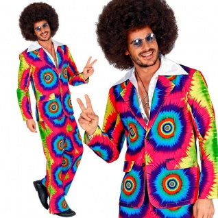 HIPPIE ANZUG 70er Herren Kostüm Flower Power Groovy Psychedelic 46 (S) #9331