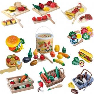Holz Lebensmittel Spielzeug Sets für Kinder Spielküche Kaufladen Zubehör