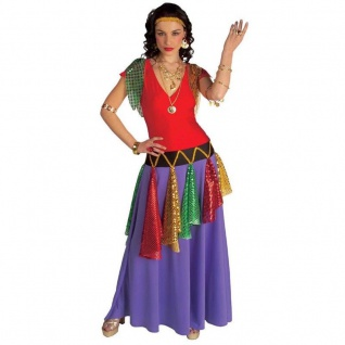 Exclusives Zigeuner Kleid XL (46/48) Damen Gypsy Piratin Zigeunerin Kostüm #156Z