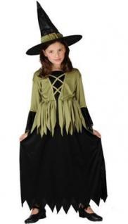 Mädchen Kostüm Hexe Woodland Witch Kinder 7 - 9 Jahre Halloween Hexenkostüm