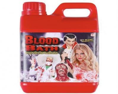 """"""" BLUTBAD"""" Kanister 1, 89 Liter Kunstblut Theater Theaterblut Filmblut Halloween"""