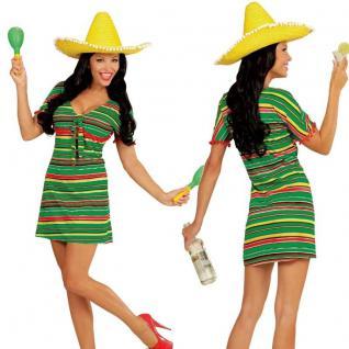 MEXICAN GIRL Mexikanerin Damen Kostüm Kleid 34 36 38 40 42 44 46 48
