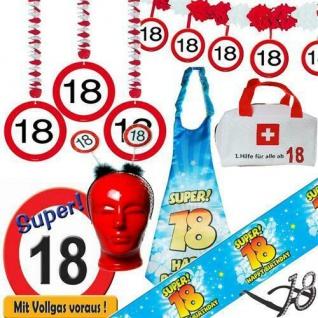 TOP Alles zum 18. Geburtstag Verkehrsschild Deko Geburtstagsdeko Partyzubehör
