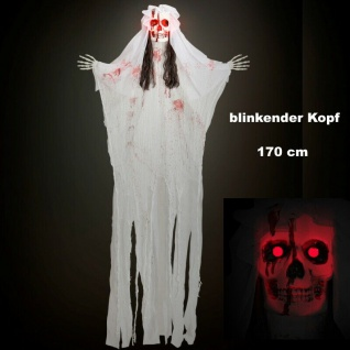 Braut Tod Skelett leuchtend 170 cm Party Deko hängend Halloween Figur #00453