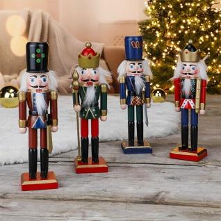 Nussknacker auf St/änder 36 cm hoch Ornament Statue Sammlerst/ück Puppen Nussknacker-Soldaten aus Holz gro/ße Nussknacker-Figur Weihnachtsdekoration