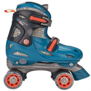 Kinder ROLLSCHUHE Größen verstellbar 34 35 36 37 Türkis Junior Skates (TAO)