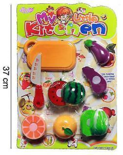 XXL Kinder Spielzeug Obst und Gemüse Schneidbrett für Kinderküche