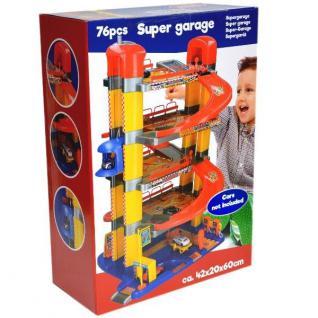XXL PARKGARAGE 5 EBENEN PARKHAUS SUPER GARAGE 42x20x60cm Kinder Spielzeug