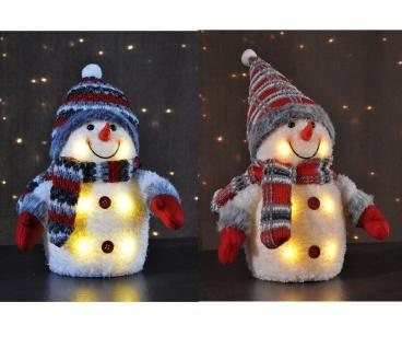 Deko-Figur Schneemann mit LED Beleuchtung Licht Weihnachten Weihnachts-Deko