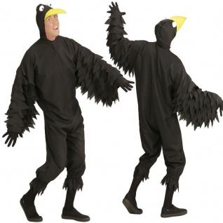 RABE Vogel Herren Kostüm S (48) Erwachsene Raben Tierkostüm Karneval Fasching